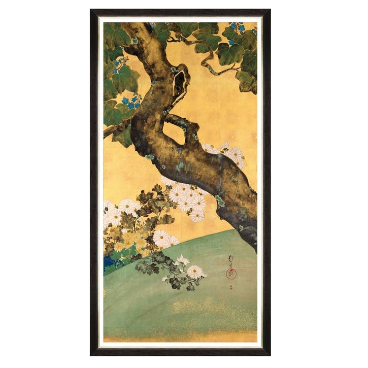 Paulownias Crysanthemums Print ll