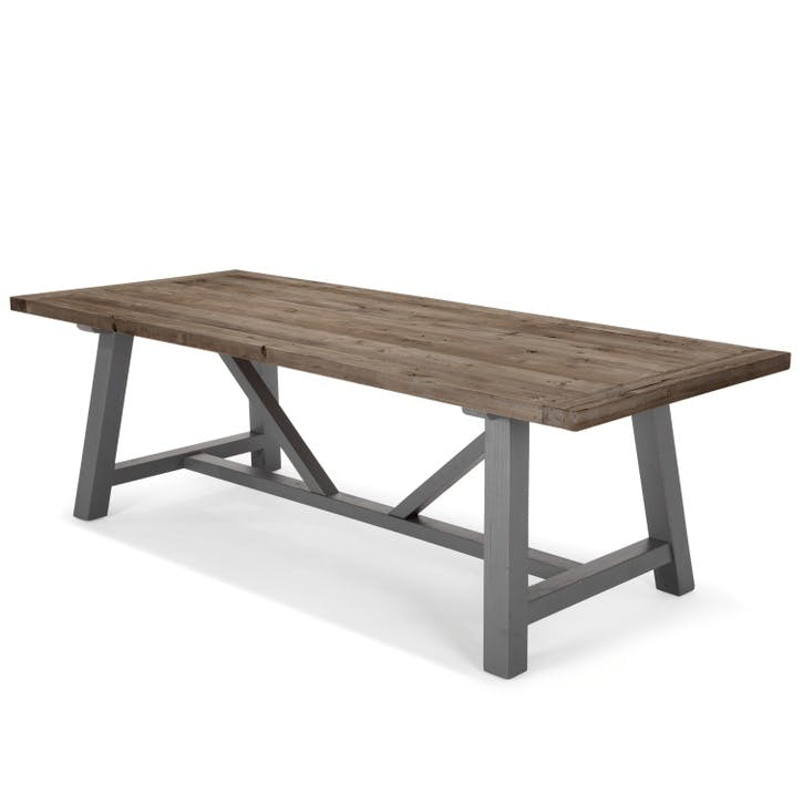 Iona Extra Large Dining Table, Solid Pine and Grey