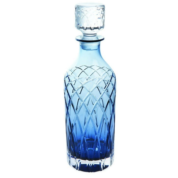 Harris Tall Spirit Decanter, Ink Blue
