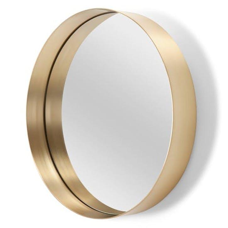 Alana Round Mirror; 80cm - Brushed Brass