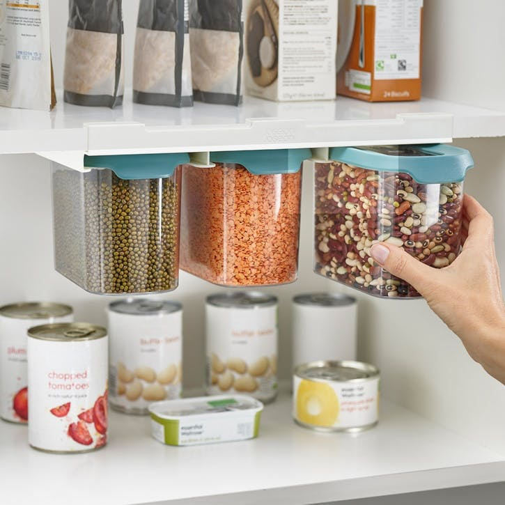 CupboardStore Under-Shelf Food Storage Tub Set, 1.3L
