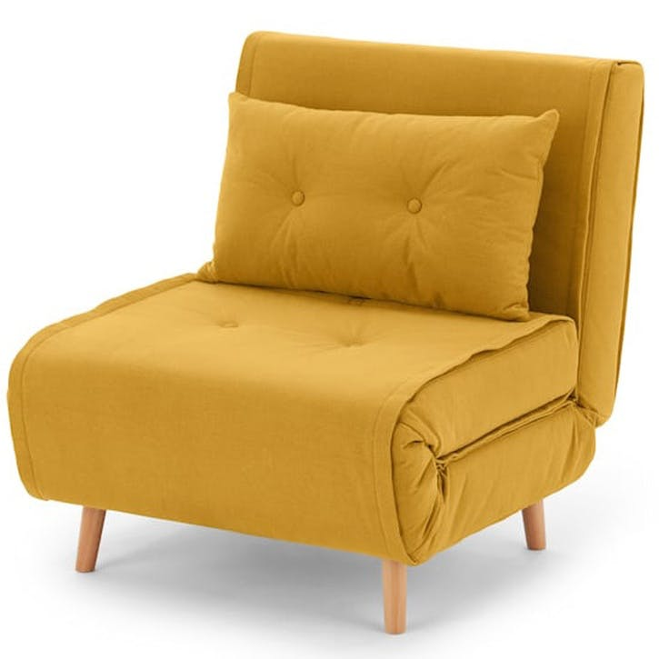 Haru Sofa Bed - Single; Butter Yellow