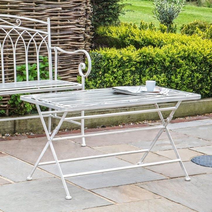 Lazzaro Outdoor Coffee Table, White
