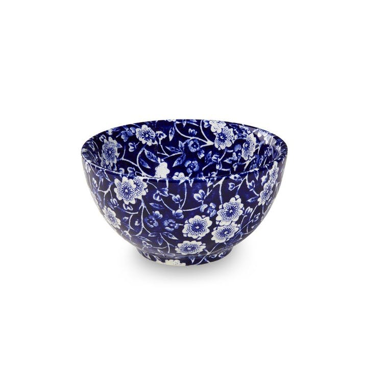 Calico Sugar Bowl, 9.5cm, Blue