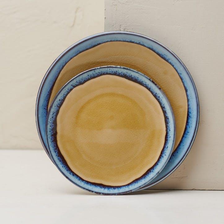 Dakara Dinner Plate; Mustard