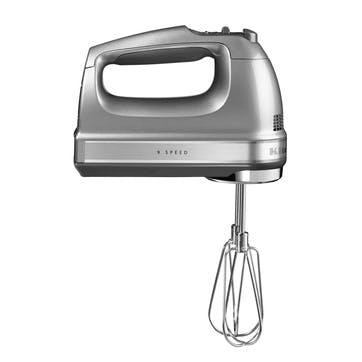 9-speed Hand Mixer; Contour Silver