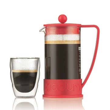 Brazil, 8 Cup Coffee Maker, 1 Litre, Red