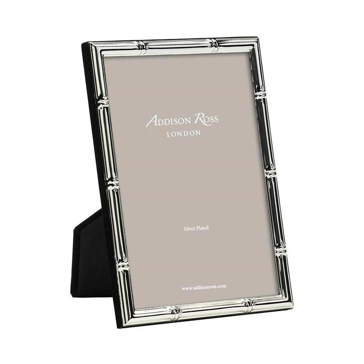 "Bamboo Silver Plated Photo Frame, 8"" x 10"""