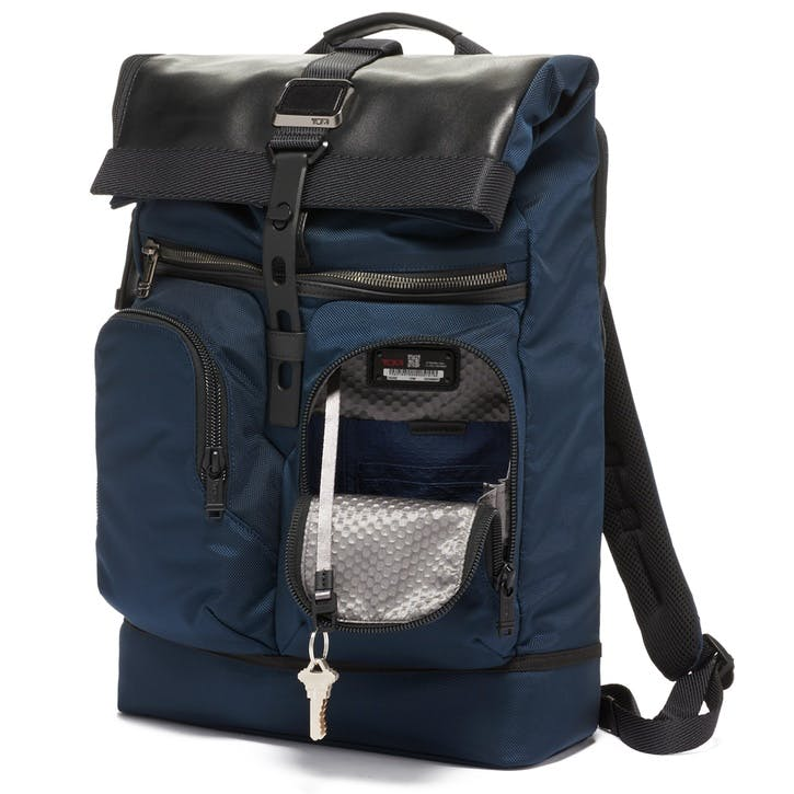 Alpha Bravo London Roll-Top Backpack, Navy