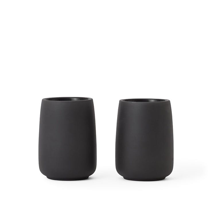 Nicola Tea Mug, Set of 2, Black
