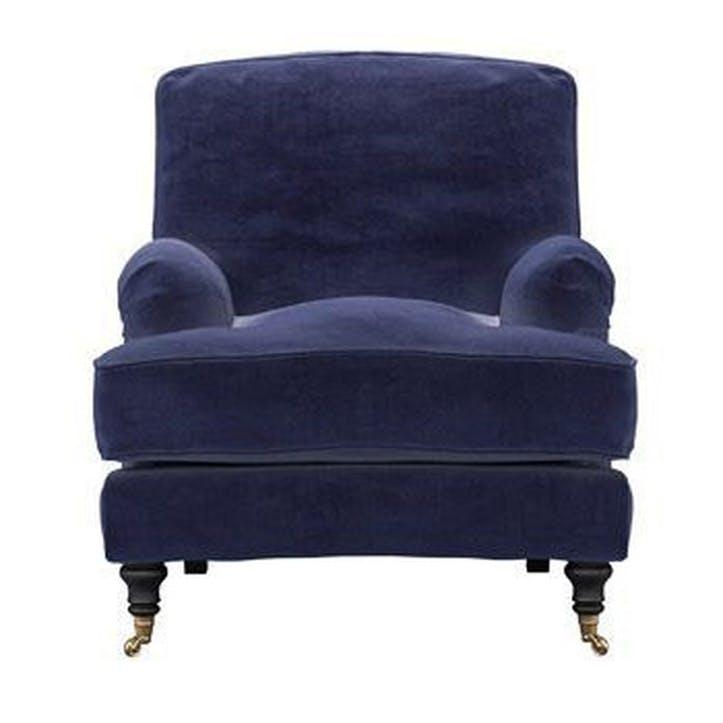 Bluebell Armchair, Blue Velvet