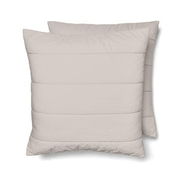 Quilted Square Pillowcase Pair, Rose