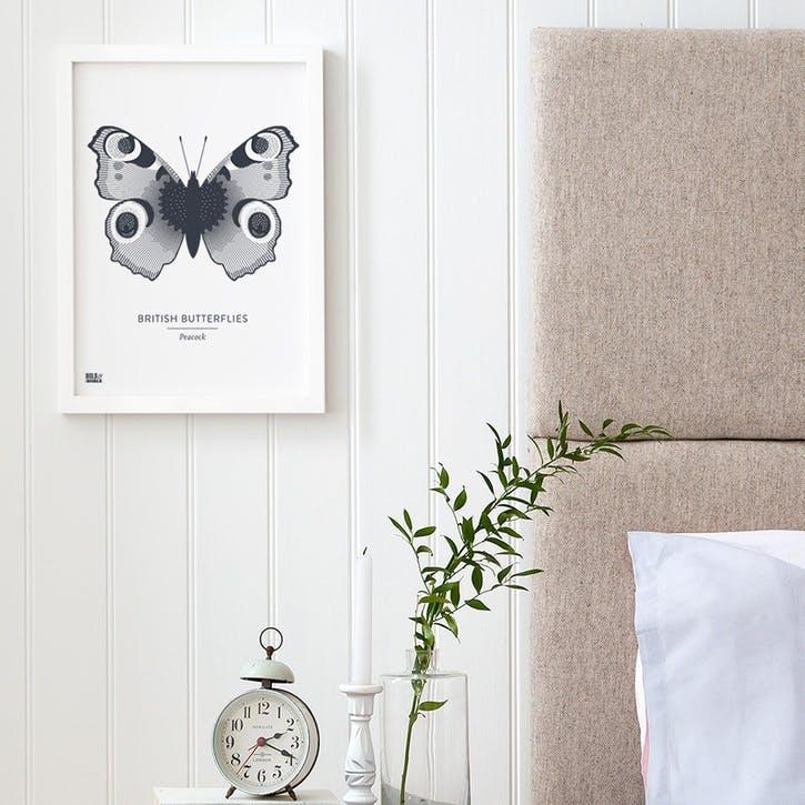 Set of 4 'British Butterflies' Screen Prints, A4, Sheer Slate