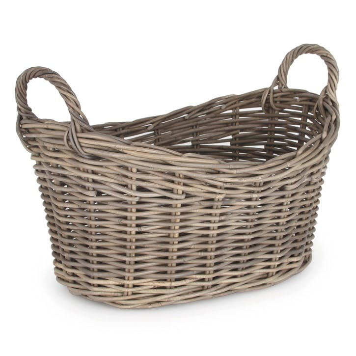 Rattan Woven Oval Laundry Basket