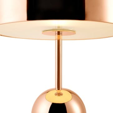 Bell Table Lamp; Copper