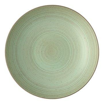 Nature, Deep Plate, Dia28cm, Green