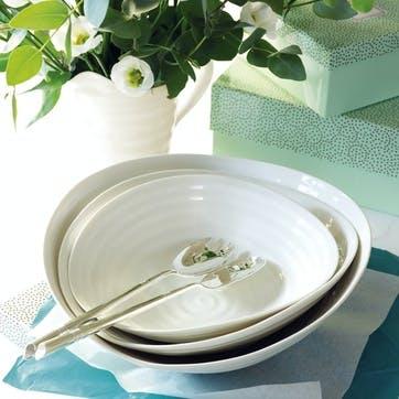 Salad Bowls, Set of 3; White