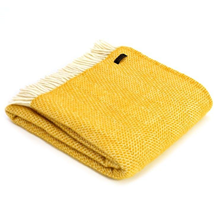 Beehive Throw; Yellow