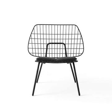 WM String, Lounge Chair, H80 x W53 x D50cm, Black