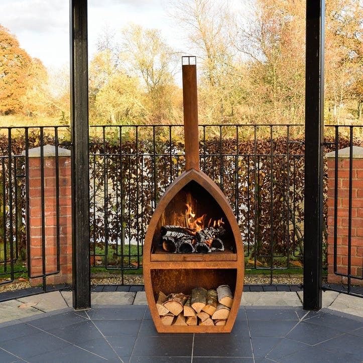 Poole, Outdoor Fireplace, Rust