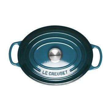 Signature Cast Iron Oval Casserole, 29cm, DeepTeal