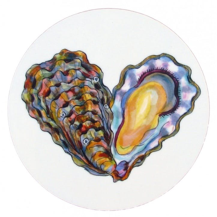 Oyster Coaster - 10cm