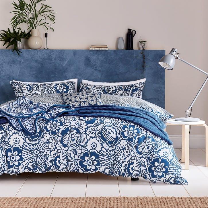 Tilde Super King Bedding Set, Blue