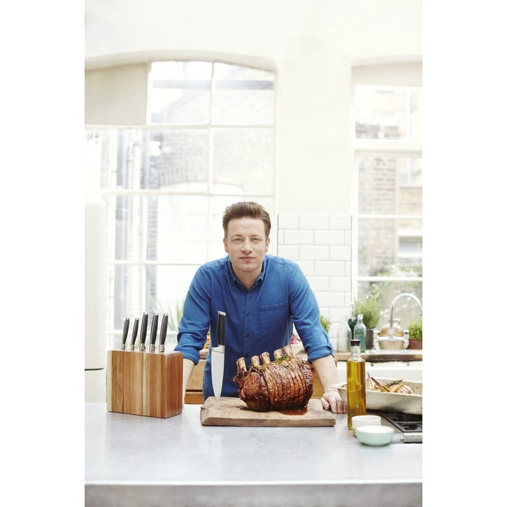 Jamie Oliver Acacia Knife Block, 5 Piece Set