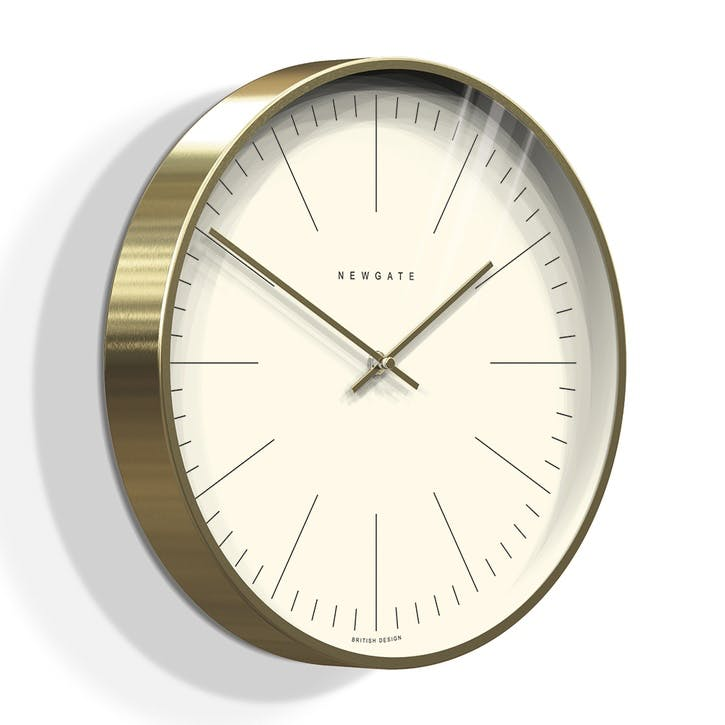 The Oslo Linear Marker Dial Clock, 35cm; Brass