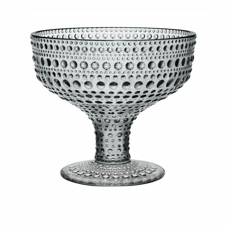 Kastehelmi Footed Serving Bowl, Grey