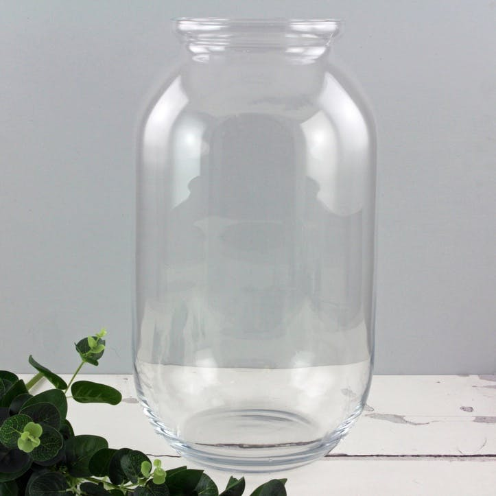 Glass Jar Vase, Tall