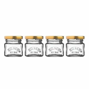 Set Of 4 Mini Jars