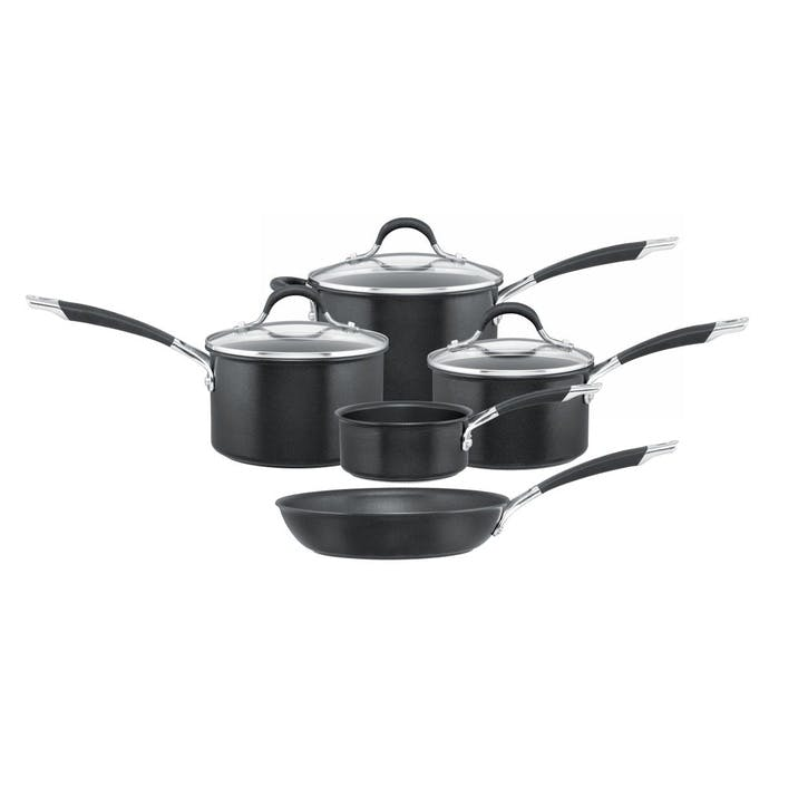 Momentum Hard Anodised 5 Piece Pan Set