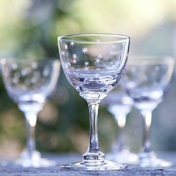 Stars Crystal Liqueur Glasses, Set Of 6