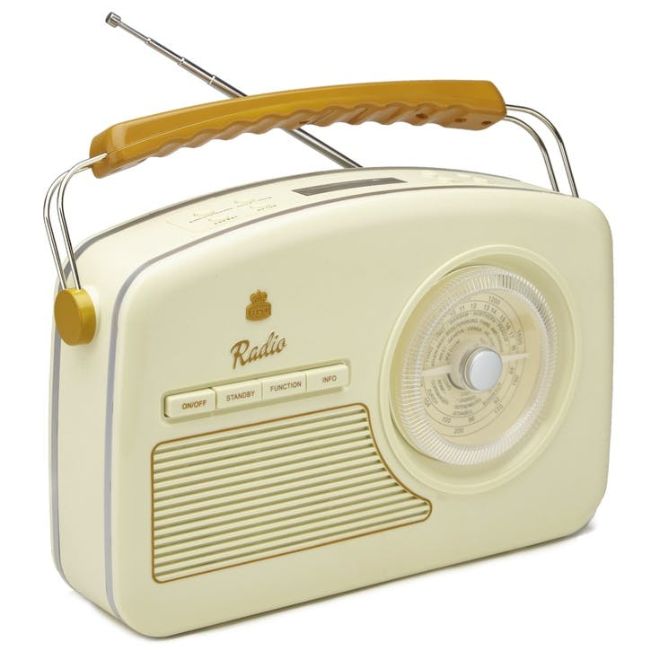 Rydell DAB Radio; Brown & Cream