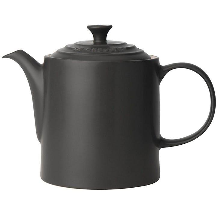 Stoneware Grand Teapot - 1.3L; Satin Black
