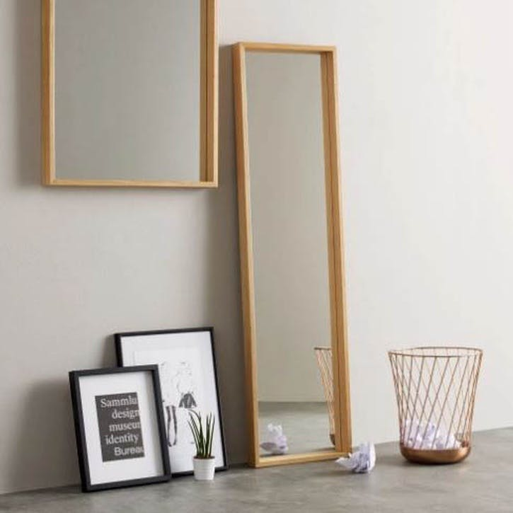 Wilson Full Length Mirror, Oak