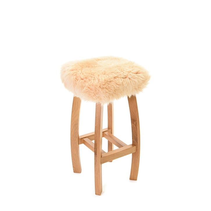 Baa Bar Stool, 72cm x 33cm x 33cm, Buttermilk