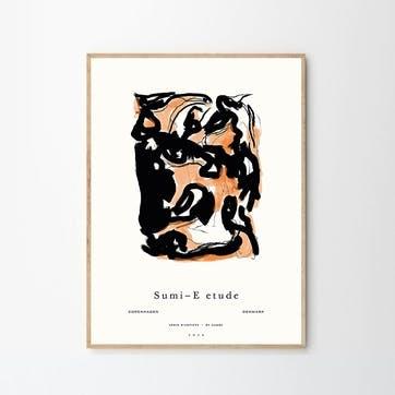 Sumi E 02 -  By Garmi Art Print  D50cm x H70cm