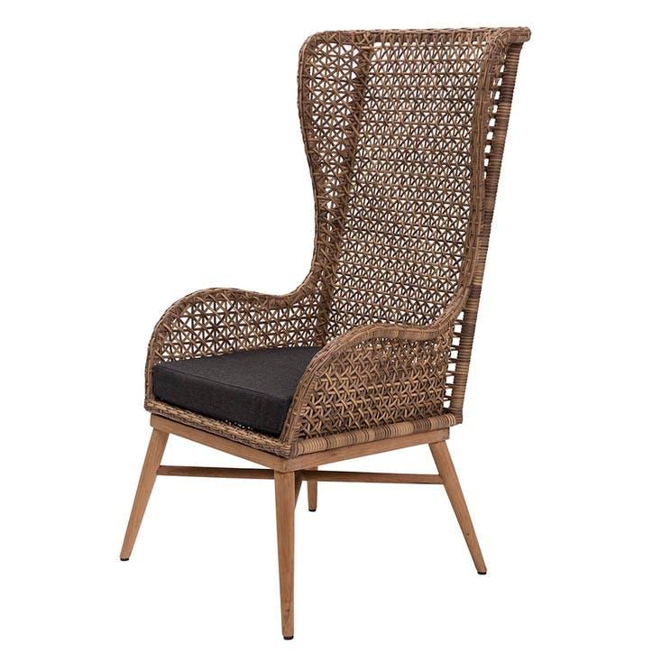 Madagascar, High Back Armchair, Grey