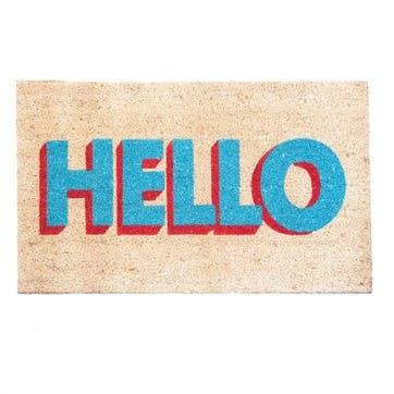 Doormat 'Hello', 75 x 45cm