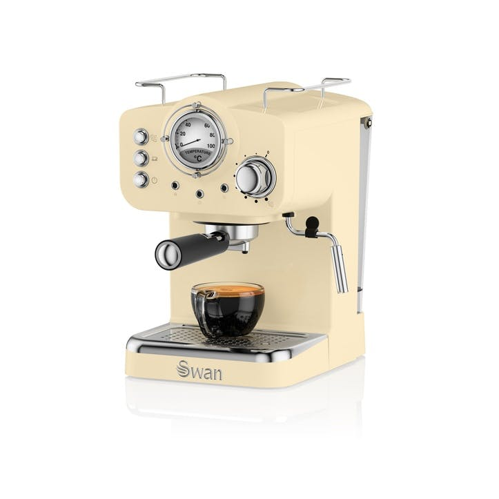 Retro Espresso Machine, Cream