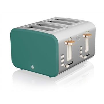 Nordic 4-Slice Toaster, Teal