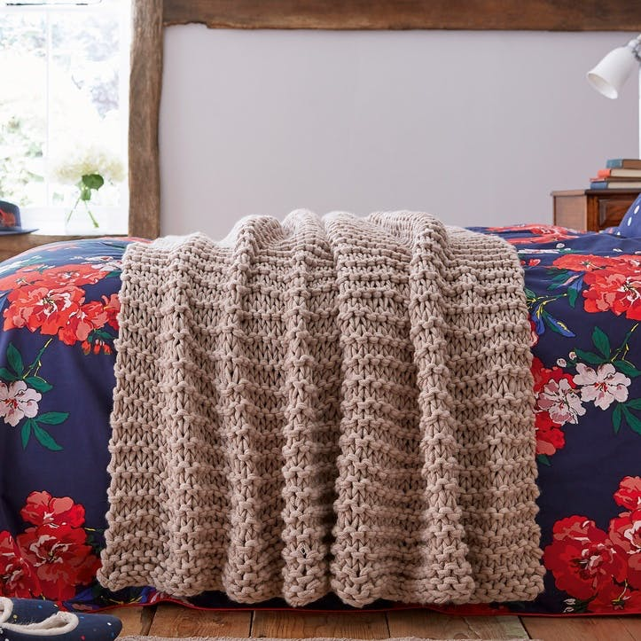Beau Floral Knitted Throw