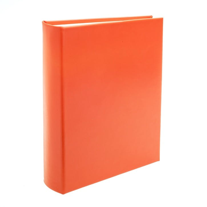 Chelsea Portrait Leather Photo Album, Tangerine