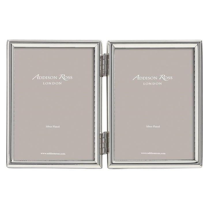 "Double Fine Photo Frame - 2""x3""; Silver"