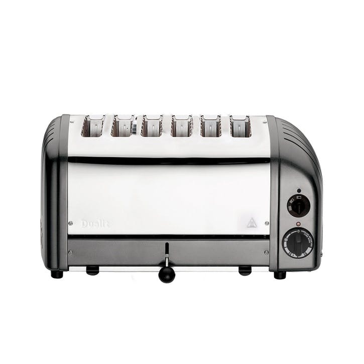 Classic Vario 6 Slot Toaster, Metallic Charcoal
