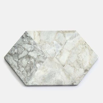 Clyde Marble Cheeseboard, White/Grey