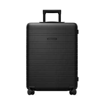 H6, Medium Check-In Trolley Suitcase, W46 X H64 X D24cm, All Black