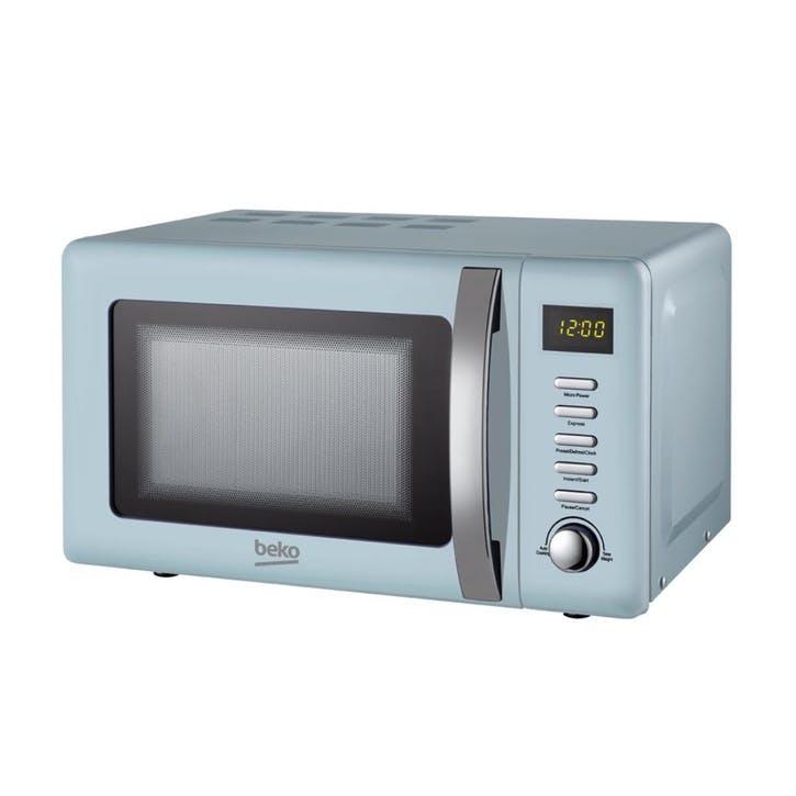Retro Compact Microwave - 20L; Blue